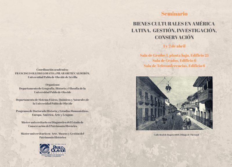 Seminario Bienes culturales en América Latina. Gestión, investigación, conservación