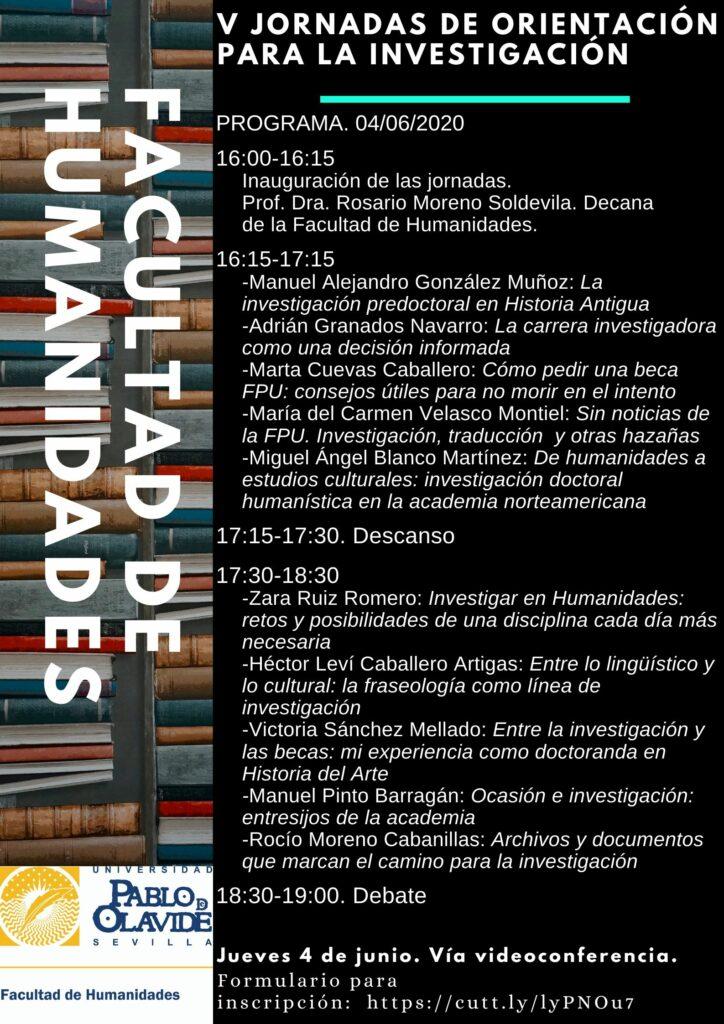 V Jornadas de orientación para la investigación
