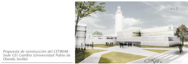 Propuesta de construcción del CETIMAB - Sede CEI CamBio (Universidad Pablo de Olavide, Sevilla)