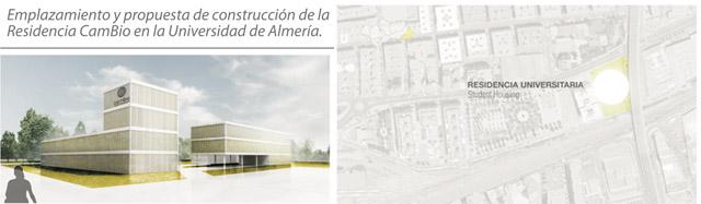 Emplazamiento y propuesta de construcción de la Residencia CamBio en la Universidad de Almería