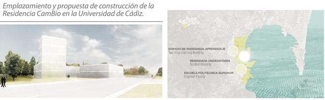 Emplazamiento y propuesta de construcción de la Residencia CamBio en la Universidad de Cádiz