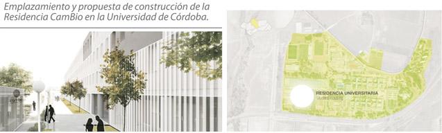 Emplazamiento y propuesta de construcción de la Residencia CamBio en la Universidad de Córdoba