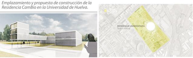 Emplazamiento y propuesta de construcción de la Residencia CamBio en la Universidad de Huelva