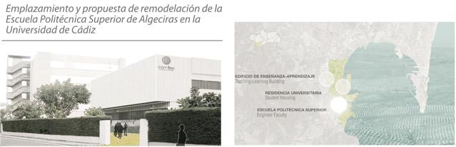 Emplazamiento y propuesta de remodelación de la Escuela Politécnica Superior de Algeciras en la Universidad de Cádiz