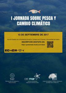 Cartel Jornada pesca y cambio climático