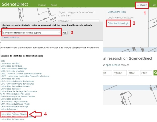 Acceso SIR_ScienceDirect