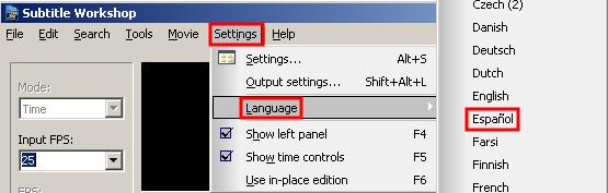Preparándote para trabajar con Subtitle Workshop