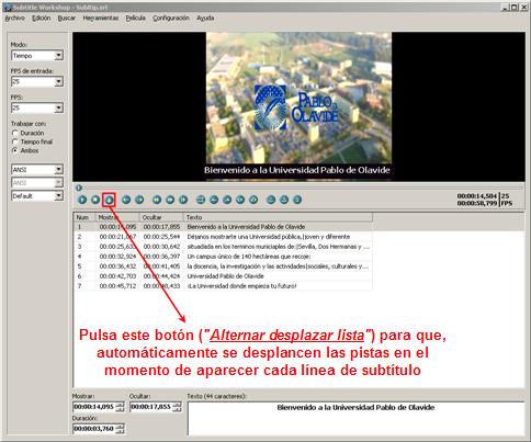 Conociendo más comandos y funciones de Subtitle WorkShop