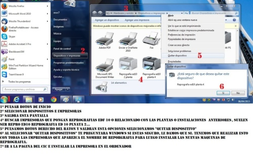 borrar impresora windows 7
