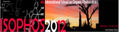6th edition of the International School on Organic Photovoltaics (ISOPHOS)