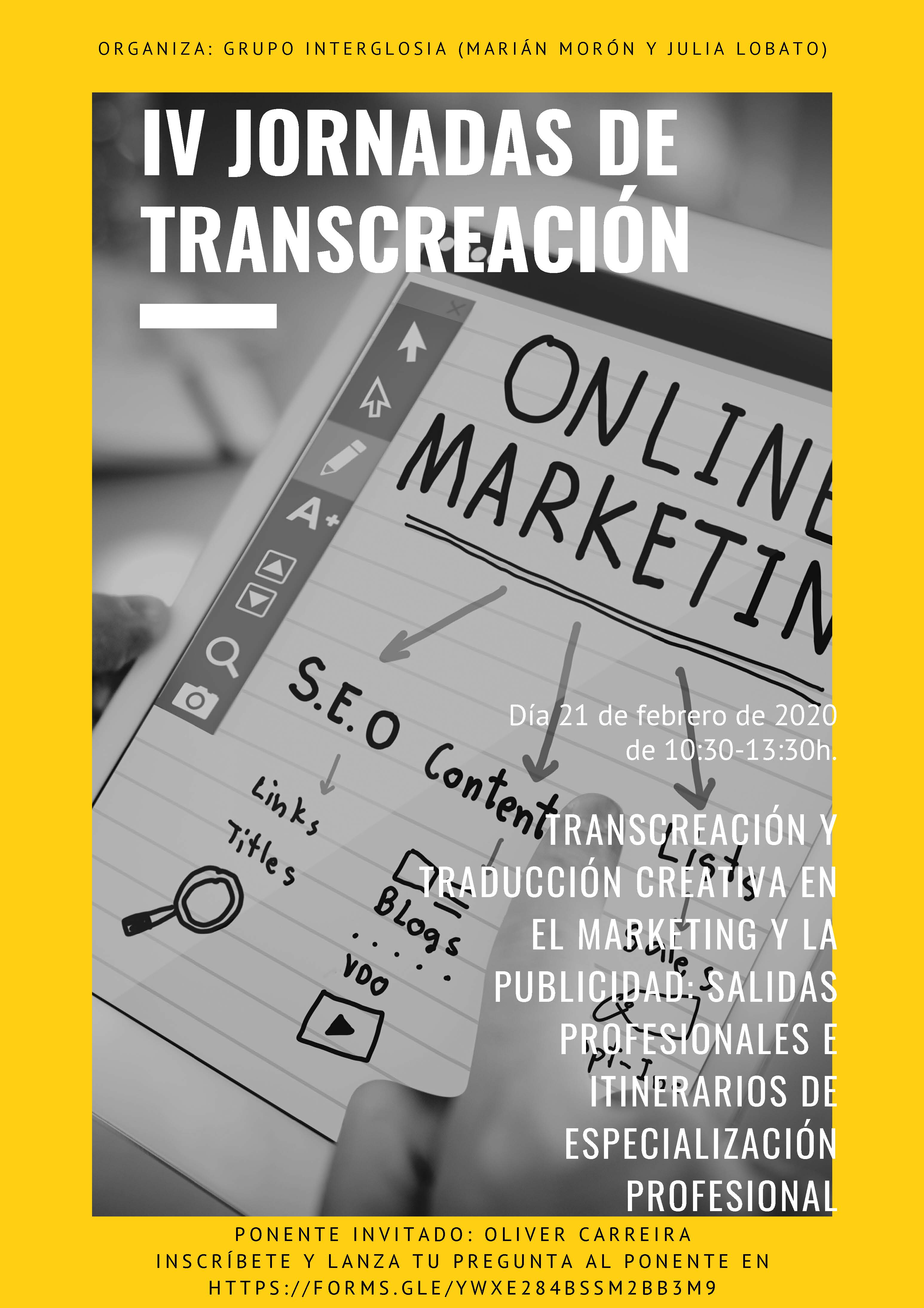 IV Jornadas de transcreacion_Cartel
