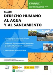 Cartel del Taller Derecho Humano al agua y al saneamiento