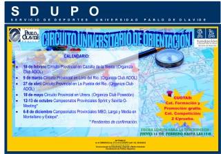 La primera prueba del Circuito Universitario de Orientación en el circuito provincial de Cazalla de la Sierra