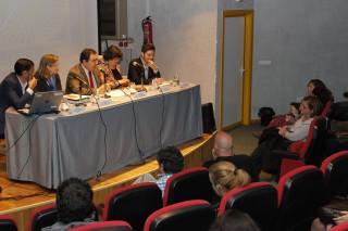 El rector, en el centro de la imagen, ha estado acompañado por Antonio Iáñez Domínguez, Ana I. Lima Fernández, Guadalupe Cordero y Gabriel Jiménez Pérez.