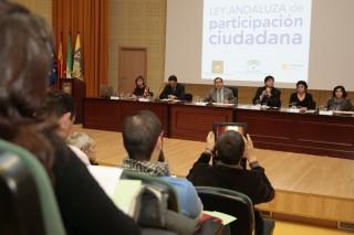 II Encuentro Provincial de Trabajo y Reflexión sobre la Ley Andaluza de Participación Ciudadana  en la UPO
