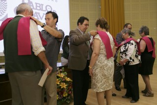 En la imagen, acto de clausura del Aula Abierta de Mayores celebrado en la UPO esta semana.