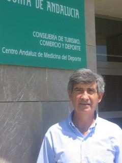 José Carlos Jaenes en las sede del CAMD