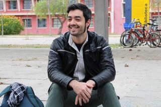 Manuel Barea en el campus de la UPO