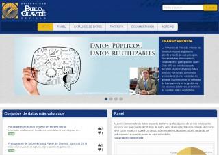 Página de inicio del portal OPEN DATA UPO