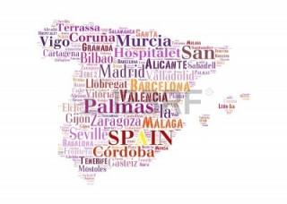mapa de españa con nombres de localidades
