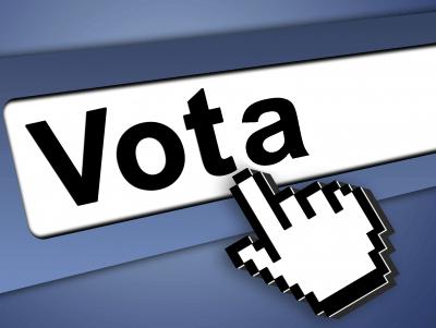 ilustración acerca del voto electrónico