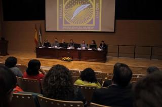 Durante la inauguración del doctorado en Biotecnología, Ingeniería y Tecnología Química de la UPO