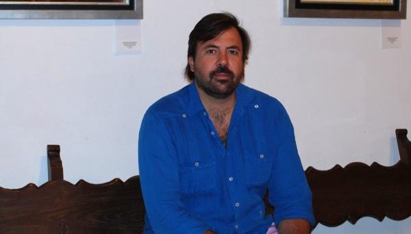 Cayetano Gómez en la sede de la UPO en Carmona