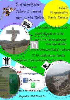 Senderismo ruta Cabra-Zuheros