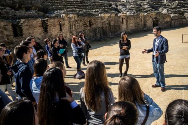 Imagen de la visita a Itálica, una de las actividades celebradas el pasado año.
