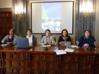 Lola Sanjuán, Paula Rodríguez, Cristina García Carrera, Lina Gálvez y Teresa García