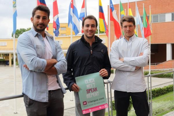 En la fotografía, de izquierda a derecha, Joaquín Montes, David Cepeda y Gonzalo García.