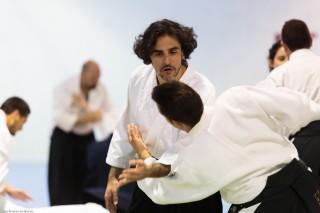 El profesor de la UPO Francisco Infante (cinturón negro 1º Dan Aikikai).
