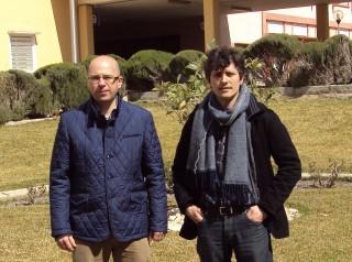 En la fotografía, de izquierda a derecha, los investigadores Diego Romero y Daniel Oto