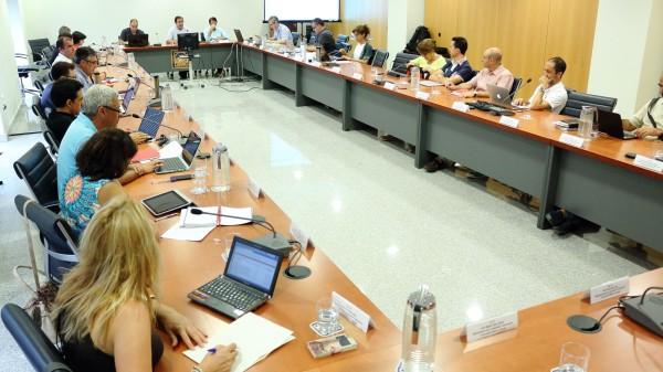 Consejo de Goberno de la UPO reunido en el Rectorado