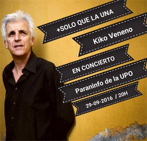 Kiko Veneno en el Paraninfo de la UPO el 29/09/2016 con su gira '+ SOLO QUE LA UNA'