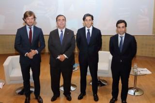 Desde la izquierda: Rosauro Varo, Vicente Guzmán, José María Álvarez-Pallete y Enrique Jiménez