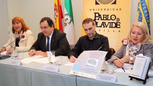 Dolores Ramos, Vicente Guzmán, Jordi Luengo y Carmen Monreal durante la inauguración del Seminario