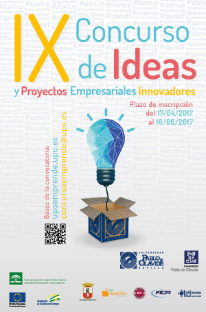Cartel del  IX concurso de ideas y proyectos empresariales innovadores
