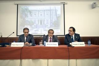 Miguel A. Castro, Emilio Lora-Tamayo y Vicente Guzmán en la EEHA