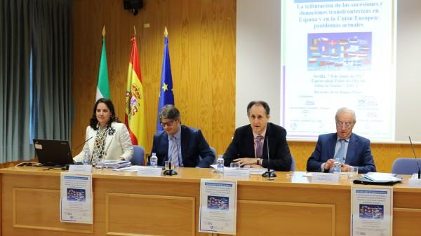 Mónica Arribas, Andrea Mondini, Jesús Ramos y Javier Lasarte en la inauguración del Seminario