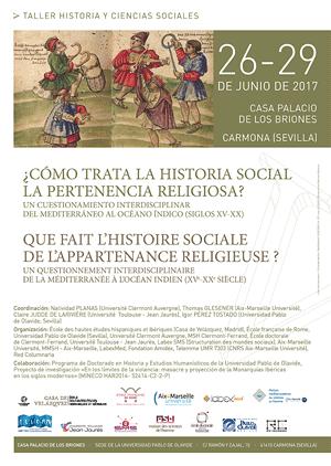 """Taller """"¿Cómo trata la historia social la pertenencia religiosa? Un cuestionamiento interdisciplinar del Mediterráneo al Océano Índico (siglos XV-XX)"""""""