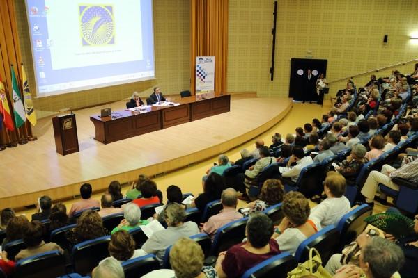 """Acto de inauguración  del Programa Universitario """"Aula Abierta de Mayores"""" de la Universidad Pablo de Olavide."""
