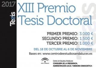 XIII Premio Tesis Doctoral del Centro de Estudios Andaluces