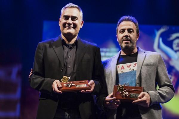 David Muños y Hugo Sanz con los Premios Rosario Valpuesta 2017
