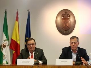 Vicente Guzmán y José Luis Sanz | Foto: Ayto. Tomares