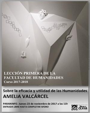 Amelia Valcárcel: Sobre la eficacia y utilidad de las Humanidades