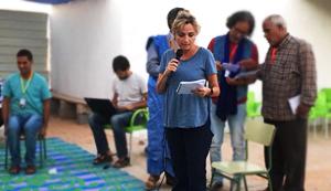 Elodia Hernández en Tinduf