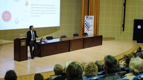 Feliciano de Soto durante el seminario 'Ciencia básica ysociedad: pasado y futuro'