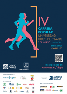 IV Carrera Popular Universidad Pablo de Olavide: 3 de marzo de 2018, 11 horas