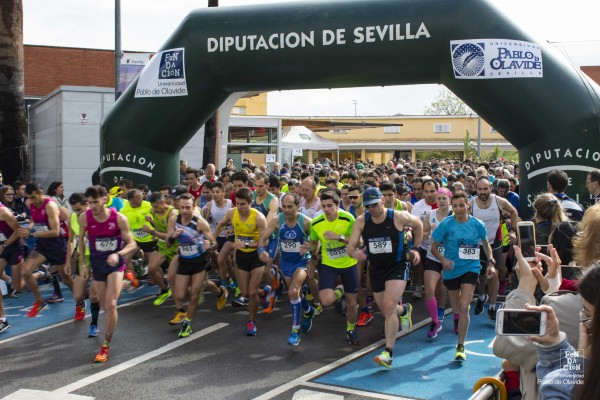 Salida de la Carrera Popular en 2017